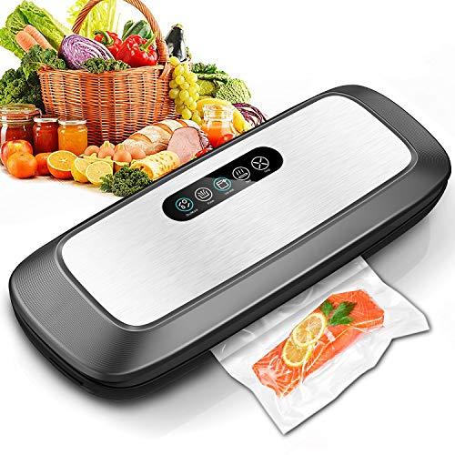 ZUZPAO, New Edition 2020, Macchina Sottovuoto Alimenti Professionale, Smart Touch Sigillatrice Sottovuoto Automatica, 10 Sacchetti Alimentari, Vacuum Sealer, Sigillatore, Macchinetta Sottovuoto