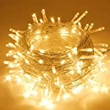 Extra-Long 66FT String Lights Outdoor/Indoor, 200 LED Upgraded Super Bright Christmas Lights, Waterproof 8 Modes Plug in Fairy Lights for Bedroom Party Wedding Garden (Warm White)