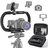 Zeadio Stabilisateur pour Caméra Téléphone GoPro, Poignée Pliable, Video Rig...