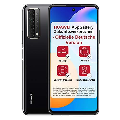 HUAWEI P smart 2021 Dual SIM Smartphone (16,94 cm - 6,67 Zoll, 128 GB interner Speicher, 4 GB RAM, Android 10 AOSP ohne Google Play Store, EMUI 10.1) midnight black + 5 EUR Amazon Gutschein