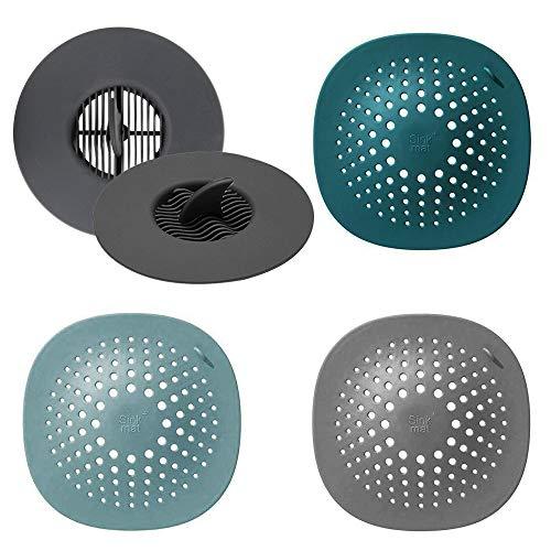 DEHUB Abflusssiebe, 5 Stücke Waschbecken Filter, Drain Sieb Kanalfilter Wasser Stopper für Küche Bad, Spüle Siebe Reinigen für Badezimmer Badewanne und Küche.