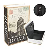 Kyodoled Diversion Book Safe with Combination Lock, Safe Secret Hidden Metal Lock Box,Money Hiding Box,Collection Box,9.5' x 6.2' x 2 .2',Rome