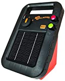 Gallagher S10 Solar Electric Fence Charger | Powers 3 Mile / 15 Acres of Fence | Low Impedance, 0.1 Stored Joule Energizer | Unique Battery Saving Technology | Solar Battery & Leadsets Included