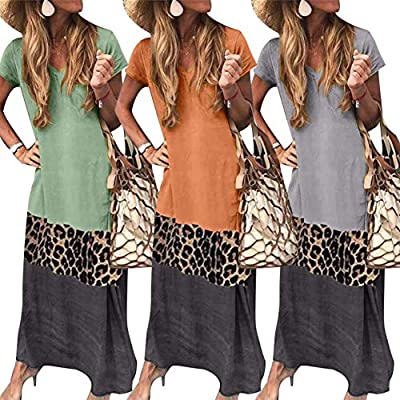 Special leopard patchwork and color block design will make you stand out. Made of premium Nylon, Polyester, Spandex material, breathable, skin-friendly and softy Loose style and comfortable to wear, Suitable for work, beach, holiday or just daily wea...