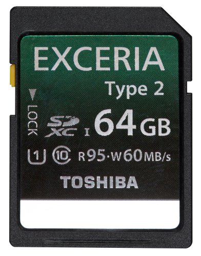 東芝 SDXC 64GB R95MB/s W60MB/s EXCERIA TYPE-II UHS-I クラス10 TOSHIBA SD-H64GR7WA6 海外向けパッケージ品 並行輸入品