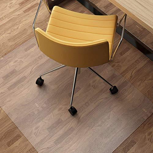 KINLO Bürostuhlunterlage 90x120cm PVC Bodenschutzmatte Rutschfest, Kratzfest, Schlagfest und Abriebfest Stuhlmatte für Hartböden, Laminat