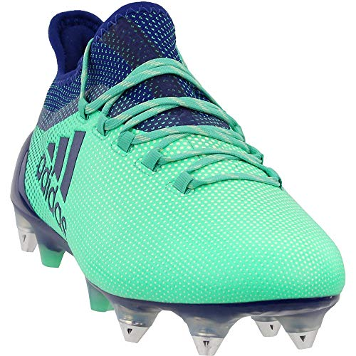 adidas Mens X 17.1 Soft Ground Soccer Casual Cleats, Green, 10.5