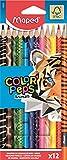 Maped - Crayons de Couleur Color'Peps Animals FSC - Crayon de Coloriage...