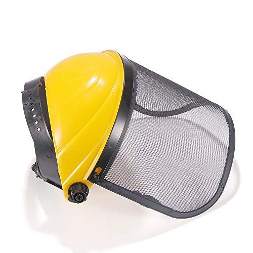 Casco di sicurezza per tagliaerba da giardino, casco di sicurezza in rete con visiera in rete integrale per la protezione forestale del registro