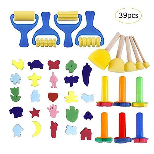 Schwamm Malerei Pinsel Kinder Malen Kits Schaum Pinsel Kits für Kinder Kinder Früherziehung DIY Kunsthandwerk
