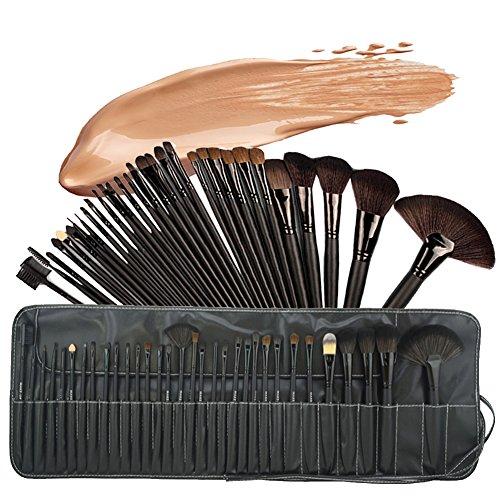 Base Maquillaje Professional Set de Brochas - RFAIKA 32 Piezas Pinceles de Maquillaje Suaves Belleza Maquillaje - Sombras de Ojos Set de Brochas Cosmético Fundación Ojo Cara Sonrojo Cepillos Polvos Maquillaje (negro)