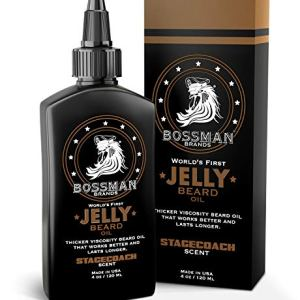 Bossman Beard Oil 4oz, Thicker consistency Jelly - Made in USA - Longer Lasting - Bigger Bottle -...