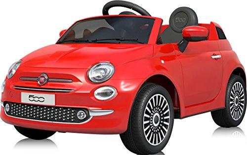 電動乗用カー フィアット500 FIAT500 電動乗用玩具 乗用玩具 [701] (レッド)