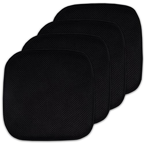4 Pack Memory Foam Honeycomb Nonslip Back 16' x16' Chair/Seat Cushion Pad