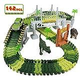 Circuit Voiture Enfant Dinosaure Flexible Tracks Car Jouet De Piste 142Pièces...