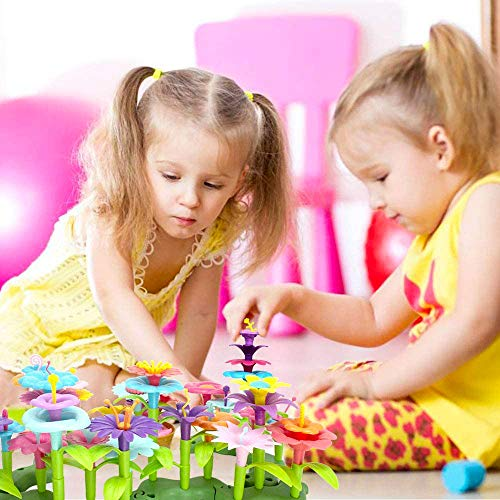 COSILY-Flower-Building-Toy-Set-Garden-Building-Blocks-Playset-for-Girls-Boys-98-PCS-with-11-Colors-Educational-Kids-Toys-Creative-for-Decoration-3-4-5-6-Year-Old-Toddler