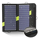 X-DRAGON Solar Ladegerät 20W 2-Port USB Tragbares SunPwer Solar Panel Handy Ladegerät für iPhone, Huawei, Andriod Smartphone, Tablets, iPad, Samsung, Ourdoor, Camping