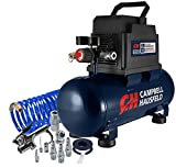 Campbell Hausfeld 3 Gallon Portable Air Compressor with Inflation Kit & Air Hose, w/Accessory Kit (DC030098E)