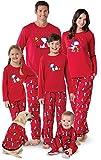PajamaGram Family Pajamas Matching Sets - Snoopy Pajamas, Red, Mens Large