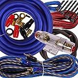 Gravity BGR-KIT4-B-PK2-2000W-4CH Complete 2000W 4 Gauge Amplifier Wiring Kit Amp PK2 4 Ga Blue-for Installer and DIY Hobbyist-Perfect for Car/Truck/Motorcycle/RV/ATV