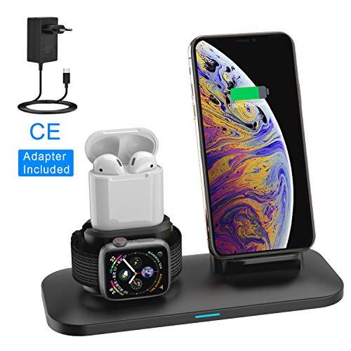 Supporto Caricabatterie Wireless 3 in 1 Caricatore...