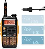 BAOFENG GT-3TP Mark-III 8W/4W/1W UHF VHF Dual Band Two Way Radio Handheld Transceiver, with Car Charger