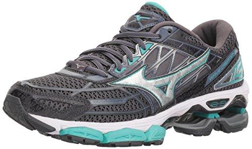 Mizuno Women's Wave Creation 19 Running Shoe, Magnet/Silver, 7