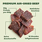 Gym Jerky Beef Jalapeno Cheeese 1kg – 25x40g High Protein – Low Fat & Low Carb – Deutsches Premium-Rindfleisch Made in Germany - 4