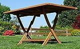 ASS ECHT Teak Holz Klapptisch Holztisch Gartentisch Tisch in verschiedenen Größen - 5