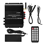fosa Lepy LP-269S Bluetooth Power Amplifier 4 Channel Remote Control Home 100-240V Portable Premium Home Audio Power Amplifier Mini Amplifier Compatible All Kinds Digital Products