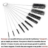 Brosse Bouteille,10 Pièces Brosse de Nettoyage Tube Goupillon Rondelles...