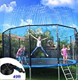 NA Trampoline Sprinklers for Kids, Outdoor Trampoline Spary Park Fun Summer Water Game Toys,Children...