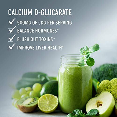 Calcium D-Glucarate 500mg 90 Vegetarian Capsules (3-Month Supply) CDG for Liver Detox & Cleanse, Weight Loss, Prostate, Metabolism, Menopause. Non-GMO, Soy-Free, Keto-Friendly 2 - My Weight Loss Today
