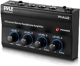 4-Channel Portable Stereo Headphone Amplifier – Professional Multi Channel Mini..