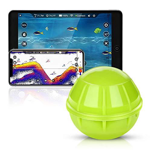 SYXZ Ecoscandaglio Wireless con ecoscandaglio Intelligente, ecoscandaglio ecoscandaglio, rilevamento Pesca sul Lago di Mare per App iOS Android,Verde