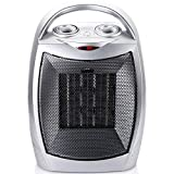 700W/1500W Ceramic Space Heater with Adjustable Thermostat, Portable...