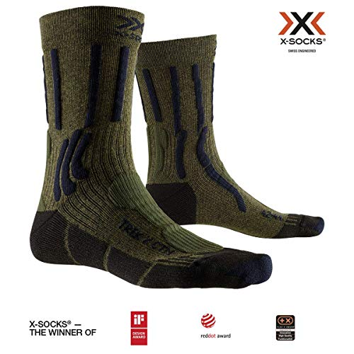 X-Socks Trek X CTN, Calzini da Escursionismo Unisex-Adulto, Forest Green/Midnight Blue, 42-44
