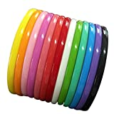 Yazon 8mm Colorful Plastic Teeth Headbands Girl's Women Headband Pack of 13