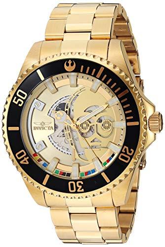 Invicta Star Wars C-3PO Herren-Armbanduhr, Limitierte Auflage, goldfarben