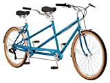 Schwinn Twinn Classic Tandem Adult Beach Cruiser Bike, Double Seater, Steel Low Step Frame, 7-Speed,...