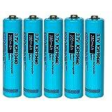 Rechargeable AAA de 3.7 V 350 mAh ICR 10440 Li-Ion Batterie 5 Pièces