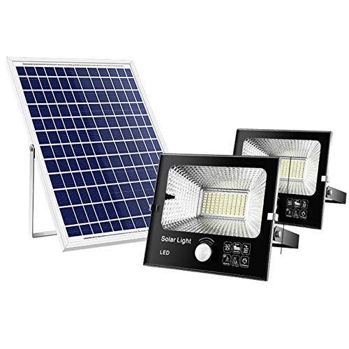 ESTEAR Luce Solare per Esterni, LED Luce di Sicurezza con Sensore di Movimento Solare IP66 Lampada Solare per Esterni A Luce Solare Impermeabile Lampada Solare per Giardino, Recinzione, Sentiero