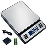 Weighmax W-2809 90 LB X 0.1 OZ Durable Stainless Steel Digital Postal Scale, Shipping Scale With AC...