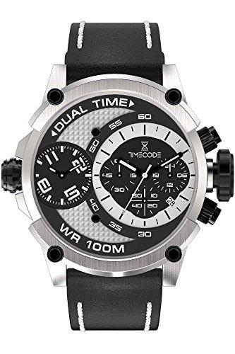 Timecode Marconi 1896 Herren-Armbanduhr Chronograph Dual Time Quarz TC-1002-10