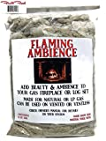 Flaming Ambience Premium Mineral Glowing Ember Rock Wool for Gas Logs Fireplace Appliances Natural/LP Fuels Compatible Burnt Ember Display/Convenient 6 Ounce Package / 2 Finger Cots Included