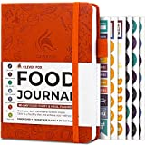 Clever Fox Food Journal Pocket Size - Daily Food Diary, Meal Tracker & Planner for Purse, Calorie and Nutrition Log, for Sticking to a Healthy Diet & Achieving Weight Loss Goals, 4.0x5.5 - Orange