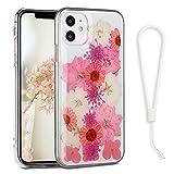 YerlyLan iPhone 12 Pro 用ケース 花 クリア 透明 アイフォン 12 スマホケース iPhone 12 携帯……
