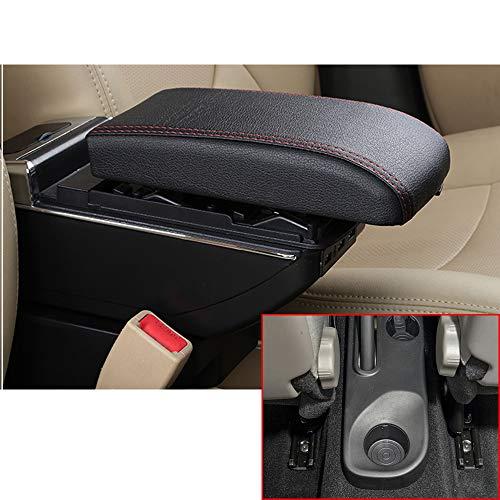 Per Kaptur Captur QM3 14-17 Di fascia alta Auto Bracciolo Accessori Con 7 Porte USB LED Incorporato Il corrimano pu essere sollevato Nero