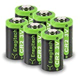 Enegitech CR2 3V Lithium Battery 800mAh 6 Pack with PTC Protection DL-CR2 for Laser Boresighter Laser Pointer Golf Rangefinder Funifilm Instax Mini55 Baby Monitor Flashlight(Non-Rechargeable)