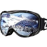 ZIONOR Lagopus Ski Snowboard Goggles UV Protection Anti Fog Snow Goggles for Men Women Youth VLT 11%...